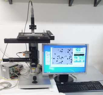 OvMeter - Microscopio Ottico Motorizzato per Conta Automatica di Cellule