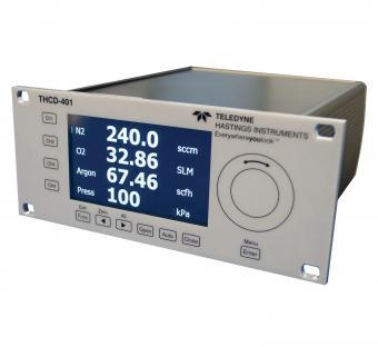 THCD-401 -  Alimentatore autonomo a quattro canali con display per flussometri/controllori e trasduttori di pressione