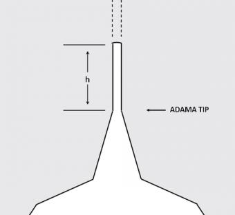 Pillar (HAR) - Punta AFM allungata di forma cilindrica (high aspect ratio) in diamante a cristallo singolo